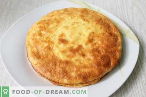 Casserole de fromage cottage comme à la maternelle - très savoureuse et aérée! Recette pas à pas avec photos.