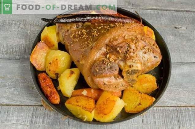Jarret avec pommes de terre - une recette simple pour une table de fête