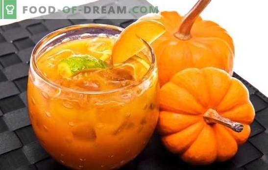La confiture de citrouille à l'orange est un délice utile. Options confiture citrouille à l'orange et au citron, abricots secs, argousier, noix