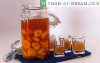 Verser des abricots à la maison: composition principale et méthodes de préparation. Recettes de liqueurs d'abricot maison: simples et complexes