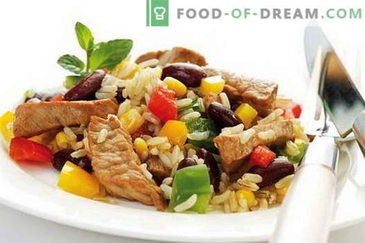 Riz à la viande - les meilleures recettes. Comment bien et savoureux cuire le riz avec de la viande.