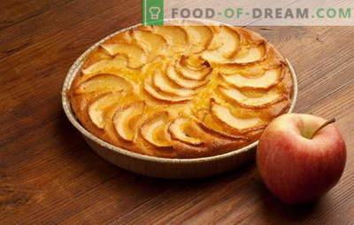 Une tarte simple et rapide avec des pommes, des oranges et du fromage cottage. Les meilleures recettes pour une simple tarte aux pommes pour une main rapide