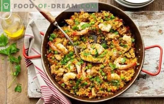 Paella classique - L'Espagne ensoleillée chez vous! Recettes Paella classique à la viande et sans viande, aux fruits de mer, bacon