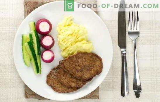 Côtelettes de foie de poulet - elles sont les plus tendres! Cuisson des escalopes de foie de poulet avec semoule, farine, pain, légumes, riz, champignons