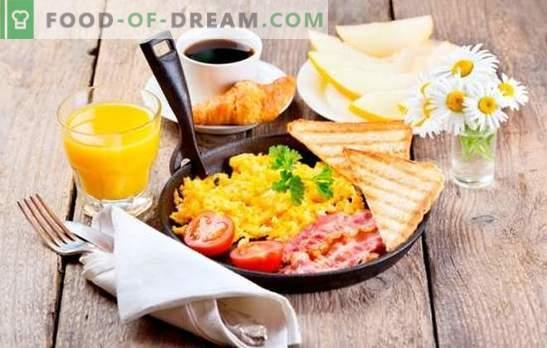 Ce qu'il faut cuisiner pour un petit déjeuner rapide et savoureux: des repas sains pour tous les jours. Une sélection de recettes rapides pour le petit-déjeuner des produits les plus simples