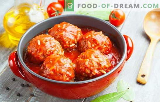 Boulettes de viande avec du riz - viande, alléchante, préférée! Faisons des boulettes de viande avec du riz: nous ferons plaisir à nos proches et à nous-mêmes