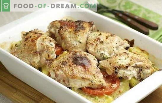 Filet de poulet avec pommes de terre au four - difficile à gâcher. Recettes de filet de poulet avec pommes de terre au four avec crème sure, adjika, etc.