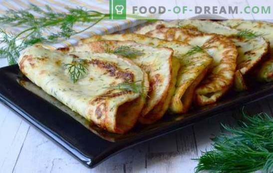Recettes simples pour de délicieuses crêpes à la courgette. Comment savoureux et cuire rapidement des crêpes maigres et sucrées à partir de courgettes
