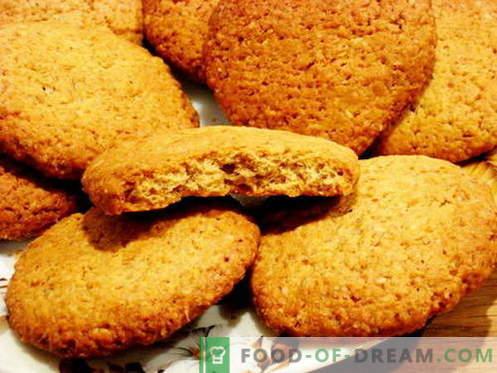 Biscuits à l'avoine - les meilleures recettes. Comment faire cuire des biscuits à l'avoine.