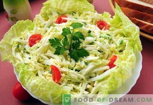 Salade de chou chinois - les meilleures recettes. Comment bien et savoureux salade de chou chinois cuit.