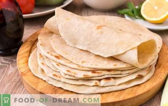 Tortilla de blé: un plat simple et nutritif pour toute la famille. Les meilleures recettes de délicieuses tortillas de blé parmi les produits disponibles