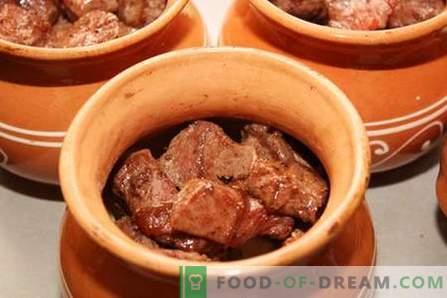 La viande en pot - les meilleures recettes. Comment cuire correctement et savourer la viande dans des casseroles.