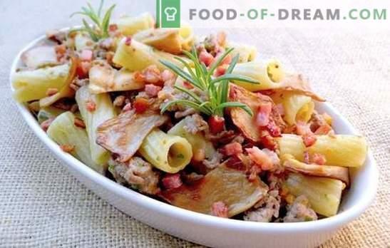 Des pâtes au porc dans toute leur splendeur! Recettes de pâtes au four et frites et pâtes au porc