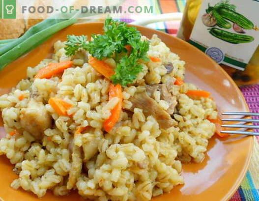 Porridge à la viande - les meilleures recettes. Comment bien et savoureux cuire la bouillie avec de la viande.
