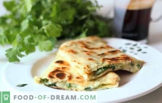 Pita au fromage dans un pan - pancakes paresseux! Recettes de différentes garnitures pour pita frit avec du fromage dans une casserole