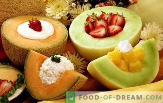 Les desserts au melon sont un délice aromatique pour les dents sucrées. Une sélection des meilleures recettes pour les desserts au melon