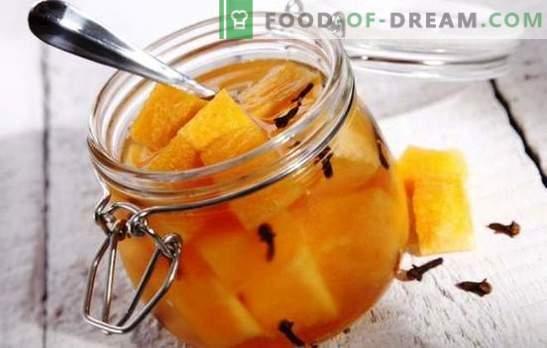Melon mariné - des expériences inattendues avec les goûts. Les meilleures recettes pour le melon mariné: avec du miel, cerise, gingembre