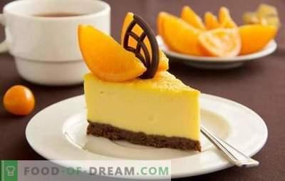 Citrusdessert - voor een goed humeur! Fantastische citrus desserts koken met gelatine, kwark, bakken