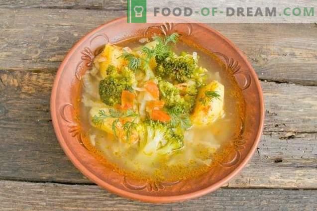 Délicieuse soupe maigre aux pommes de terre et au brocoli