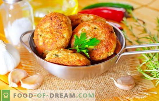 Les côtelettes de saumon rose sont un chef-d'œuvre pour les amateurs de poisson. Recettes pour boulettes de saumon rose avec fromage, riz, fromage cottage, calamars et légumes verts