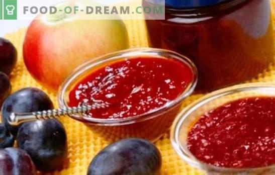 Confiture de pommes et de prunes - douceur ambrée au thé et au four. Les meilleures recettes de confiture parfumée aux pommes et aux prunes