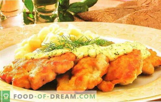 La poitrine de poulet aux carottes est un beau plat diététique. Recettes de poitrine de poulet aux carottes: petit pain, rôti, salade, boulettes de viande