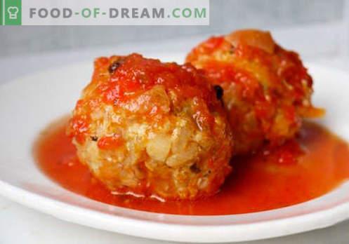 Boulettes de viande hachées - recettes éprouvées. Comment bien et savoureux boulettes de viande cuites à partir de viande hachée.