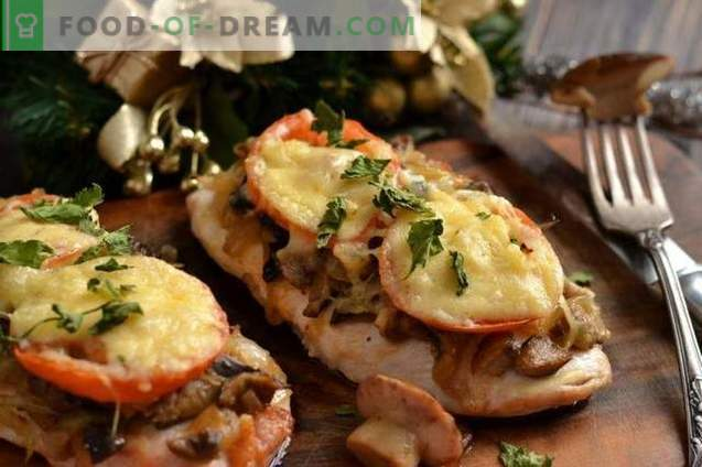 Côtelettes de poulet au fromage et tomates