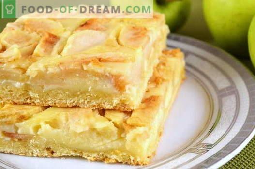 Tarte aux pommes - les meilleures recettes. Comment bien et savoureux faire cuire la tarte aux pommes.