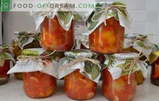 Tomates au poivre et à l'ail - un trio aromatique. Les meilleures recettes pour les collations et les blancs de tomates aux poivrons et à l'ail: rapides, pour l'hiver, épicés, coréens