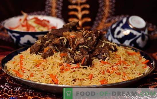 Véritable plov ouzbek - recettes et secrets de cuisine. Comment faire pilaf d'agneau ou de poulet ouzbek, avec des fruits secs