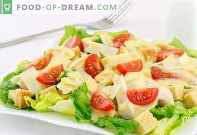Salade César au poulet - les meilleures recettes. Comment bien cuire une salade