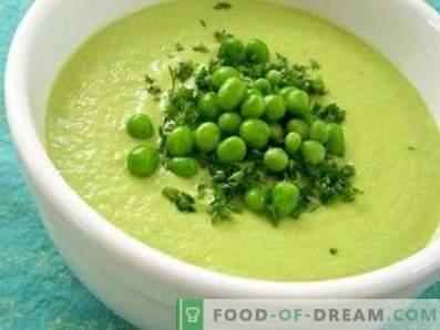 Soupe à la crème de pois verts
