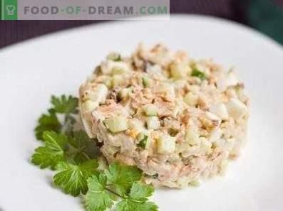 Salades au saumon rose en conserve