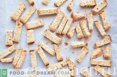 Biscuits de seigle à l'ail au four