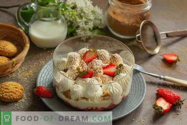 Bagatelle aux fraises - un dessert léger