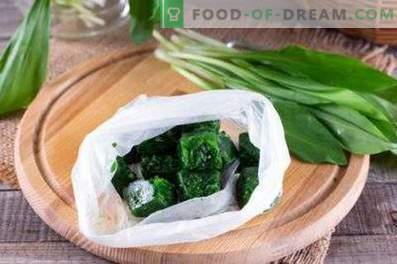 How to freeze wild garlic