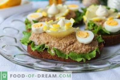 Sandwichs au foie de morue