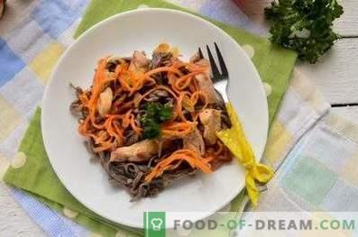 Nouilles de sarrasin au poulet et légumes