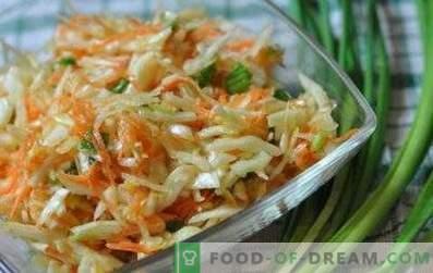 Salate mit Kohl und Essig