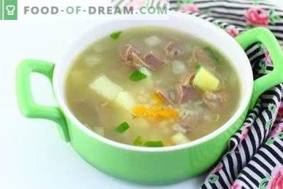 Soupe d'estomac au poulet