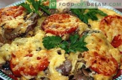 Viande française aux champignons