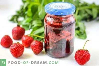 Confiture de fraises à la menthe