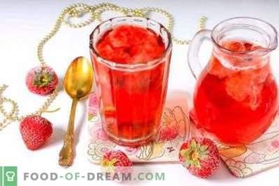 Compote de fraises congelées