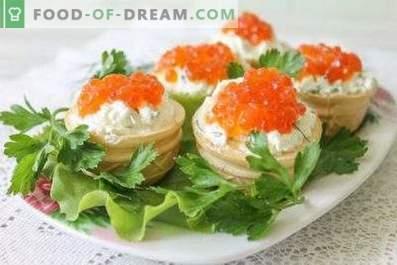 Tartelettes au caviar