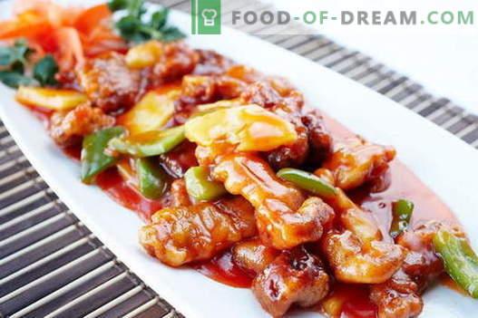Viande sucrée - les meilleures recettes. Comment cuire correctement et savoureux la viande sucrée.