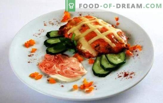 Porc au four avec des tomates et du fromage est une décoration digne d'un festin. Recettes porc au four avec tomates et fromage: les Français n'ont rien à voir avec ça!
