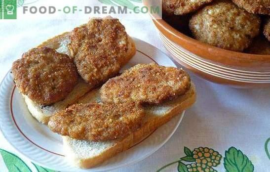 Côtelettes comme dans la salle à manger - elles sont obtenues à la maison! Côtelettes à la cantine soviétique avec semoule, pain, pommes de terre et riz